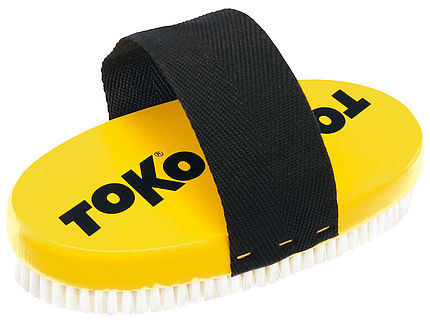 TOKO Base Brush oval Nylon with strap, front